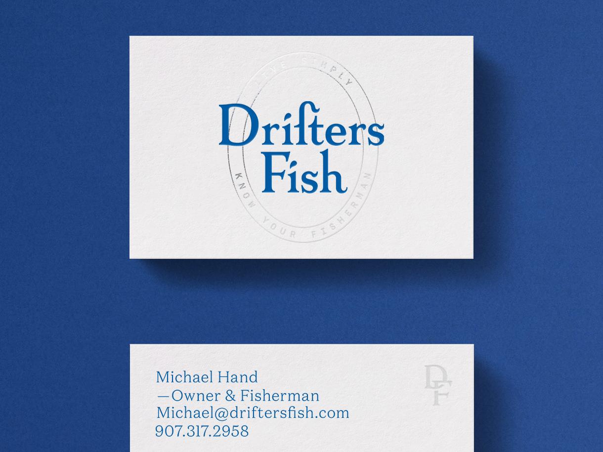 Drifters Fish Business Card busines card design identity branding