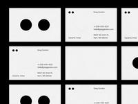 Business cards ceramics artist