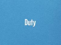 Duty Wordmark