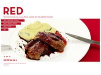 Website Design, Red Restaurant