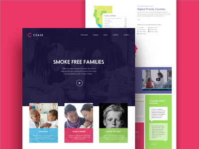 Smoke Free Families colors kids stop smoking website