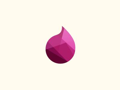 Drop poly polygon geometry logo brand color