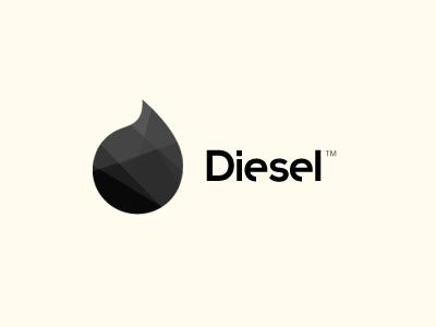 Diesel brand dark mark polygon poly exploration logo type