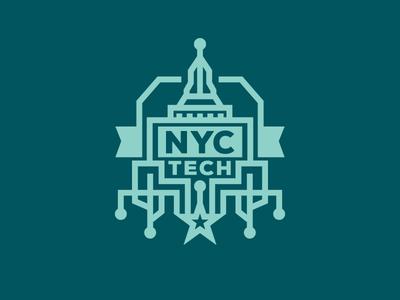 NYC TECH logo ny nyc nyctech tech monoline sxsw