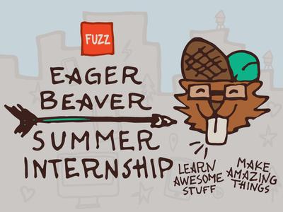 WIP : Summer Internship Illustrations eager beaver internship brooklyn illustration vector