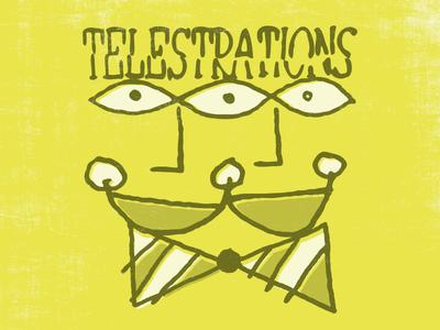 Telestrations art smile eyes poster telestrations