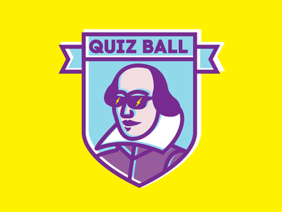 Shakespeare Is Rad AF ball quiz logo sunglasses gala shakespeare