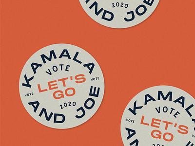 Kamala & Joe, Let's Go! political campaign campaign design sticker design sticker design personal political