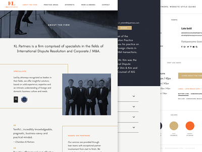 Law firm website - WIP style guide web design client freelance