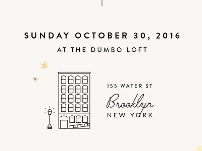 Wedding Invitation Details dumbo illustration brooklyn wedding invitation personal