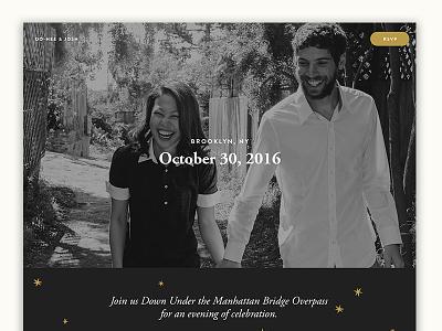 Our Wedding Website  dumbo illustration brooklyn wedding invitation personal