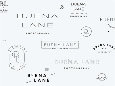 Logo & Mark Explorations in Progress freelance small business san francisco branding photography photographer logo wip