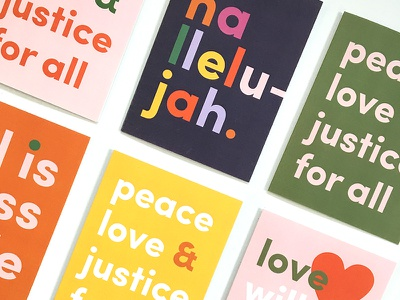 Send More Love freelance color typography greeting card personal