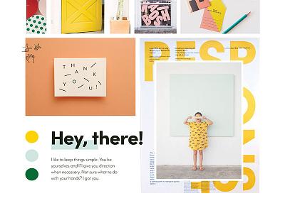 Happy Moodboard process moodboard yellow happy freelance