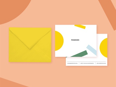 Thank You Cards process branding photography photographer yellow happy freelance