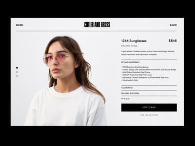 Sunglasses UI
