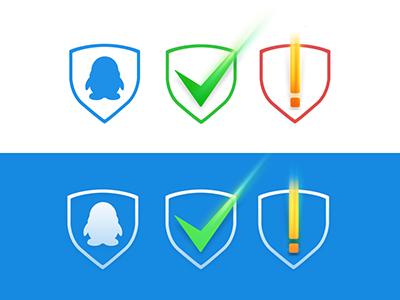 Qq security center symbol design