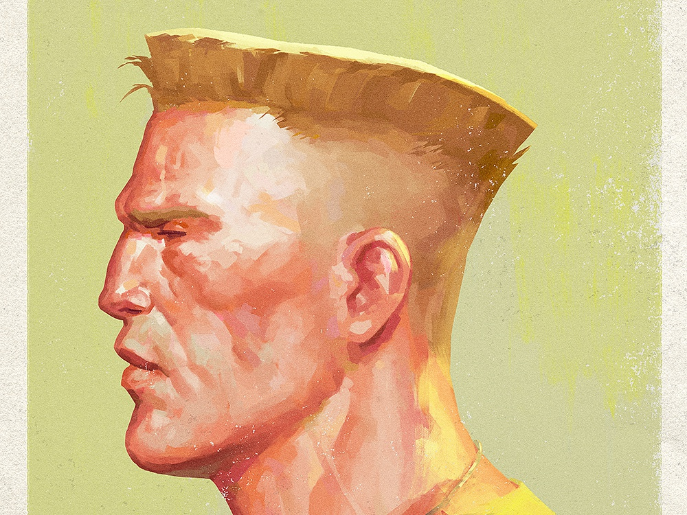 Shadaloo Files - Guile flat top mugshot capcom guile street fighter digital illustration portrait art character design illustration