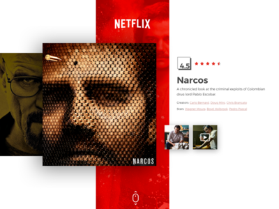 Netflix - Re-vamp #AboveTheFold website video ux ui tv-series red playful netflix layout interface gallery experience