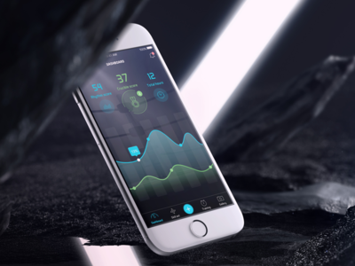 Ambition Training Tracker App ambition ambition app dribbble shot stunning data representation graph cool martial-art training black dark ui