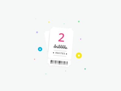 2x Dribbble Invites 😃 minimal ticket prospects 2x invites dribbble