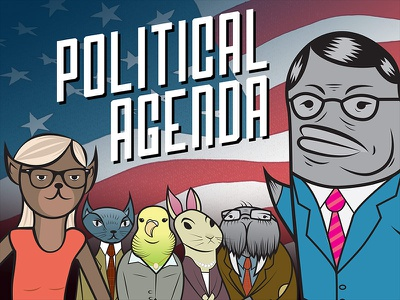 Political Agenda Game illustration game character design
