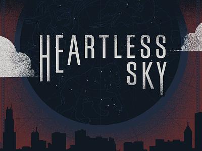 Heartless Sky album cover gig poster