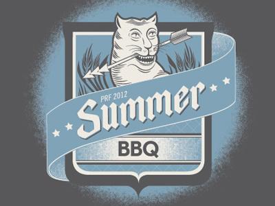 PRF Summer BBQ Poster banner illustration crest