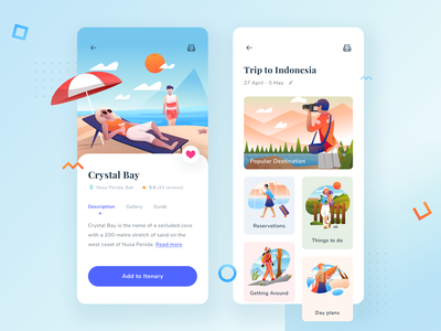 Vacation Itinerary App website web ux ui sketch simple illustration mobile minimal ios interface icon flat design clean app itinerary vacation