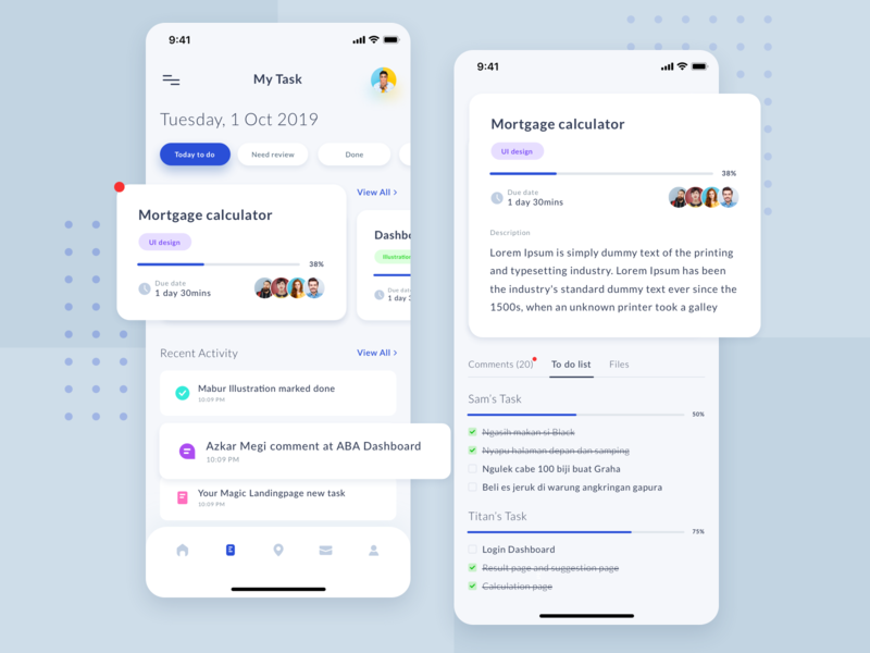 Remoteen task and details chat ios minimal remote work planing mobile ui todo schedule app management projects task ui dashboard team