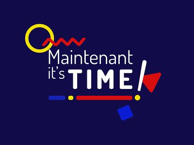 Maintenant it's time - (2nd proposition) logo design branding logo