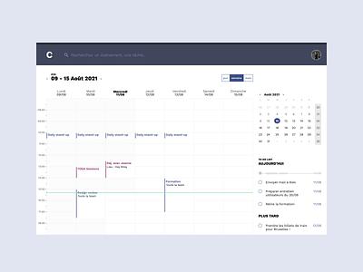 Daily UI #038 : Calendar ui designer hire me lille dailyui challenge daily ui dailychallenge calendar ui