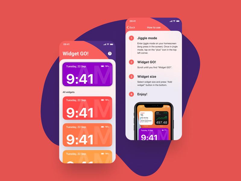 Widgets GO! clock date time ios widget widget widgets ios 14