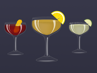 Coupe Cocktails from the Mixologist Sticker Pack