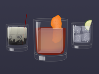 Rocks drinks from the Mixologist Sticker Pack