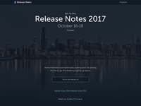 Release Notes 2017 Teaser Site