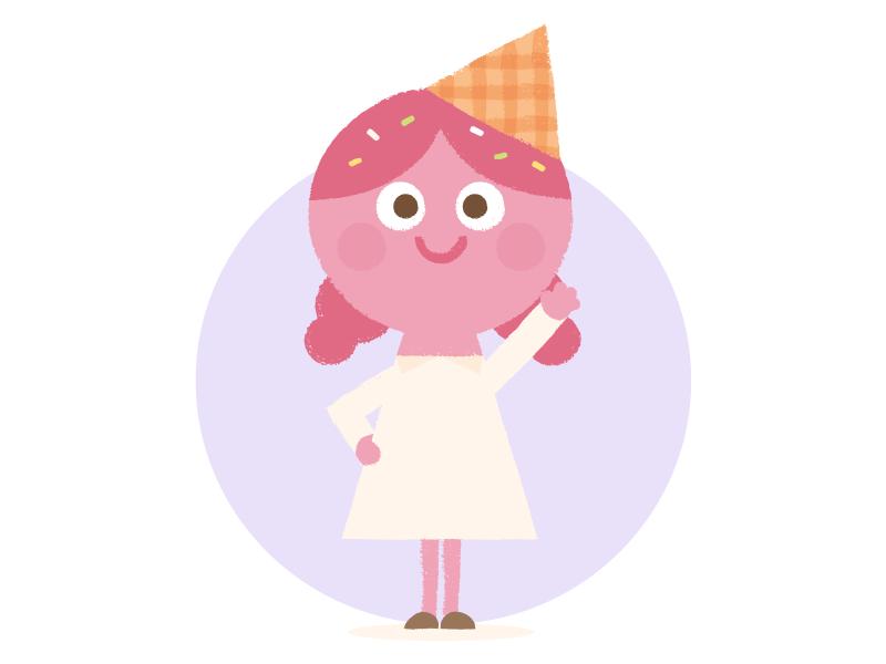 Sally Sprinkles icecream design illustration character cute