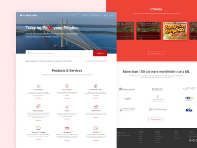 M Lhuillier Website Redesign
