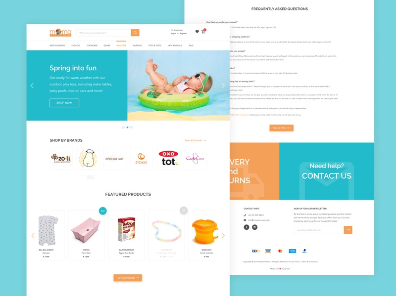 Modern Mama - E-commerce Website