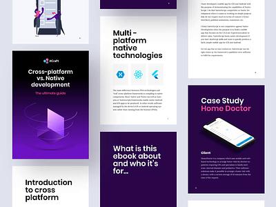 Ebook Cross-platform vs. Native app development motion animation app mobile education gradients development native flat pages cover crossplatform ebook