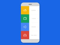 Google Kids UI menu