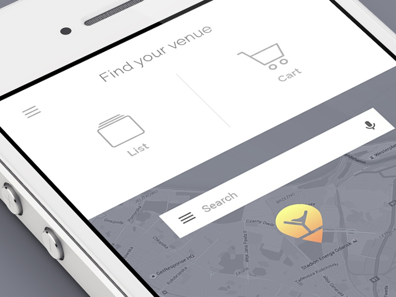 Drink Mate app drink mate find list cart map design flat ux ui app