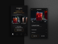 Tattersall app - home page and product page concept