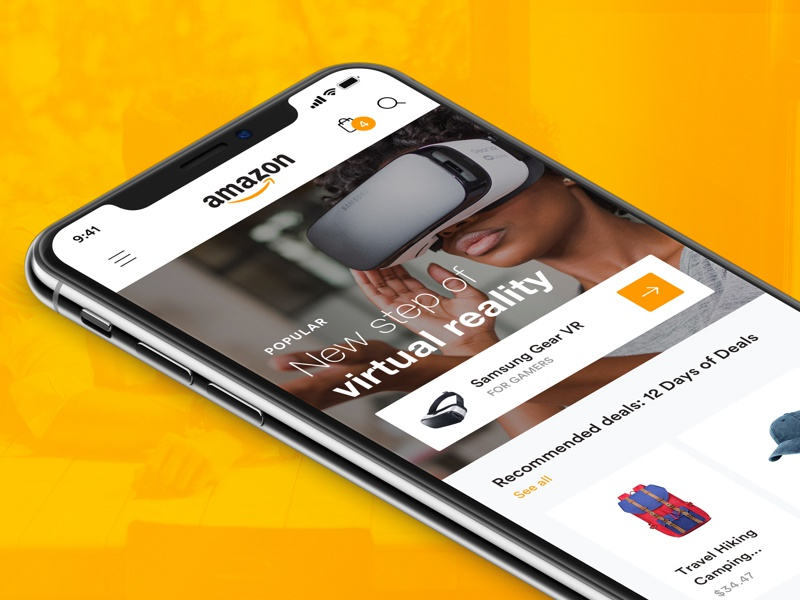 Amazon home page mobile 1x