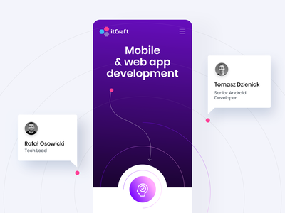 itCraft - Mobile & Web app development mobile details view team itcraft ux ui mobile lines infographic quotes details services