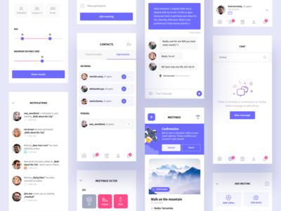 Heyway application - UI set