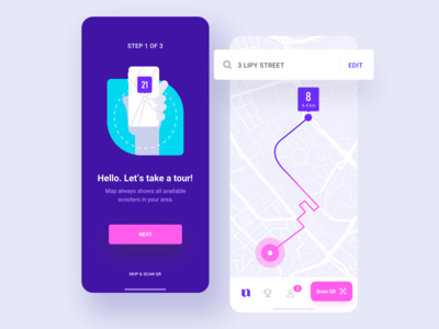 Mobile Application for scooter sharing