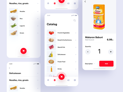 Auchan redesign concept - catalog mcommerce clean branding redesign concept redesign auchan design interface mobile app ux ui