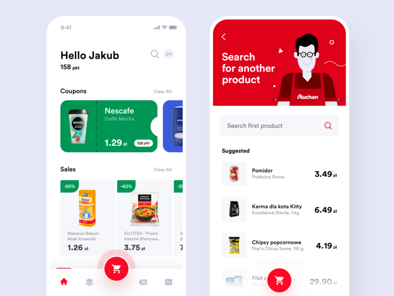 Auchan redesign concept main page & search redesign auchan concept itcraft home design interface flat mobile app ux ui