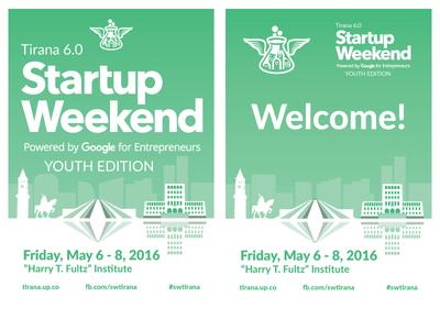 Startup Weekend Tirana 6.0 Posters